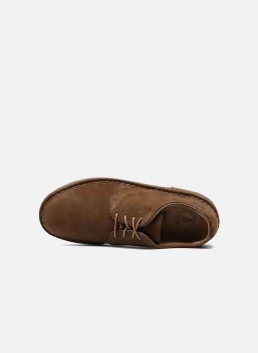 Zapatos con cordones Clarks Originals Desert London Marrón vista lateral izquierda
