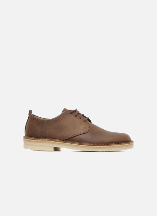 Lace-up shoes Clarks Originals Desert London Brown back view