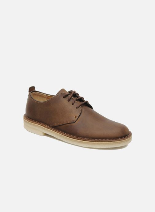 Lace-up shoes Clarks Originals Desert London Brown detailed view/ Pair view