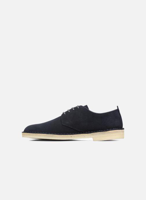Chaussures à lacets Clarks Originals Desert London Bleu vue face