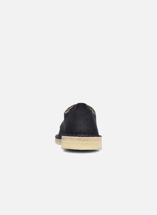 Zapatos con cordones Clarks Originals Desert London Azul vista lateral derecha