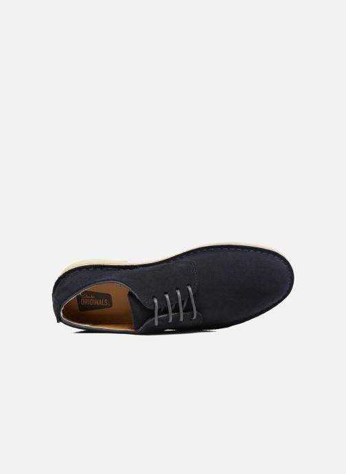 Chaussures à lacets Clarks Originals Desert London Bleu vue gauche