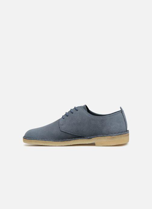 Snörade skor Clarks Originals Desert London Blå bild från framsidan