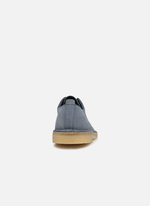 Snörade skor Clarks Originals Desert London Blå Bild från höger sidan