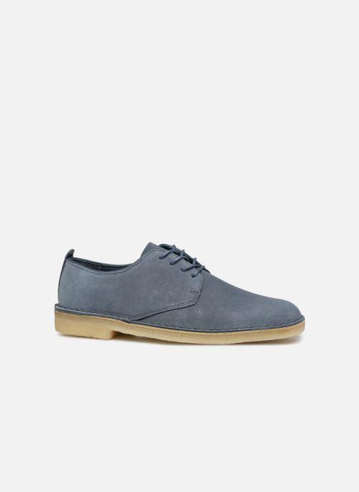 Snörade skor Clarks Originals Desert London Blå bild från baksidan