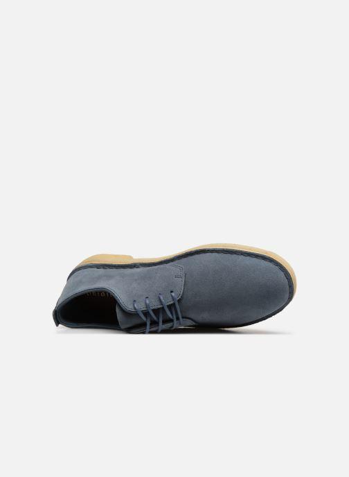 Snörade skor Clarks Originals Desert London Blå bild från vänster sidan