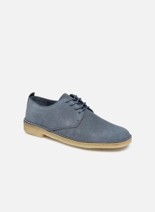 Snörade skor Clarks Originals Desert London Blå detaljerad bild på paret