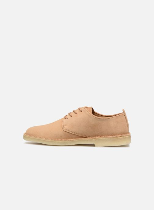 Zapatos con cordones Clarks Originals Desert London Beige vista de frente