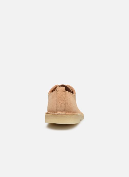 Zapatos con cordones Clarks Originals Desert London Beige vista lateral derecha