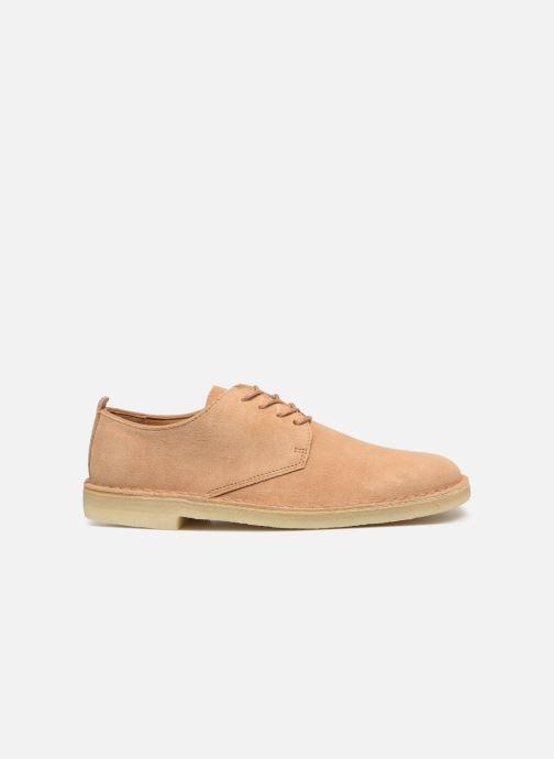 Chaussures à lacets Clarks Originals Desert London Beige vue derrière