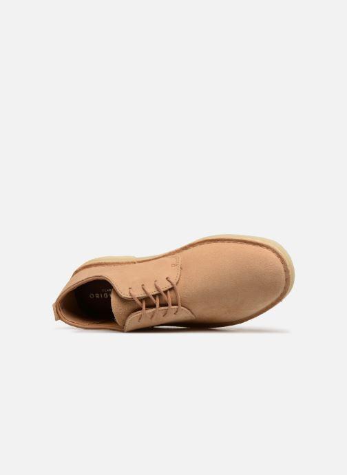 Zapatos con cordones Clarks Originals Desert London Beige vista lateral izquierda