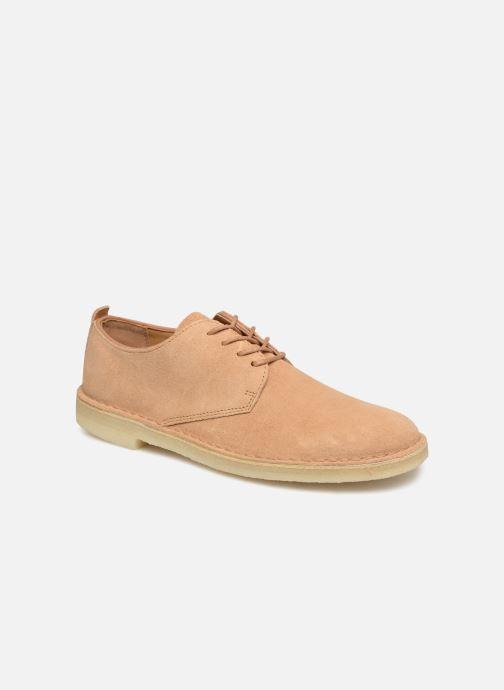 Chaussures à lacets Clarks Originals Desert London Beige vue détail/paire