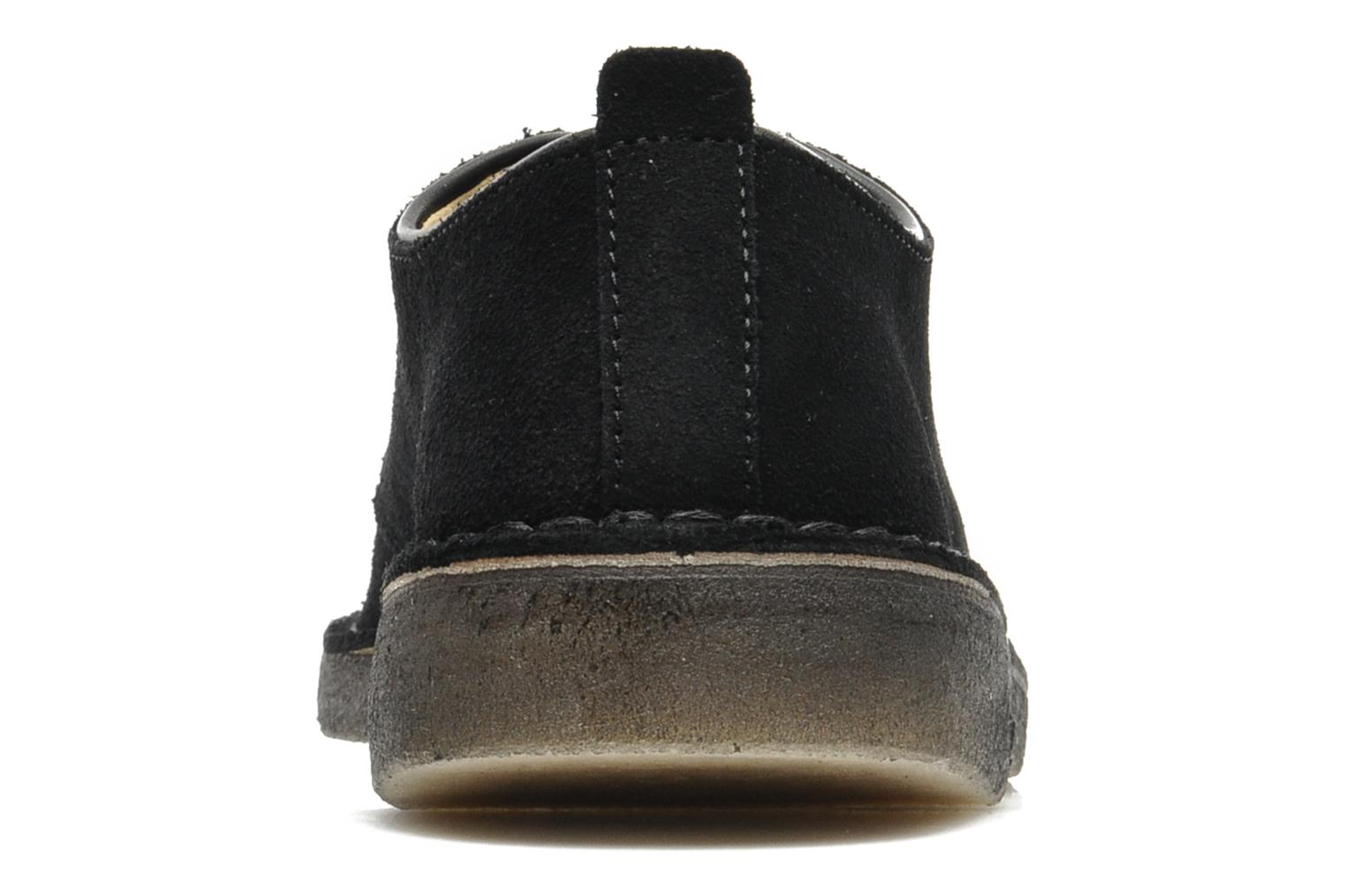Lace-up shoes Clarks Originals Desert London Black view from the right