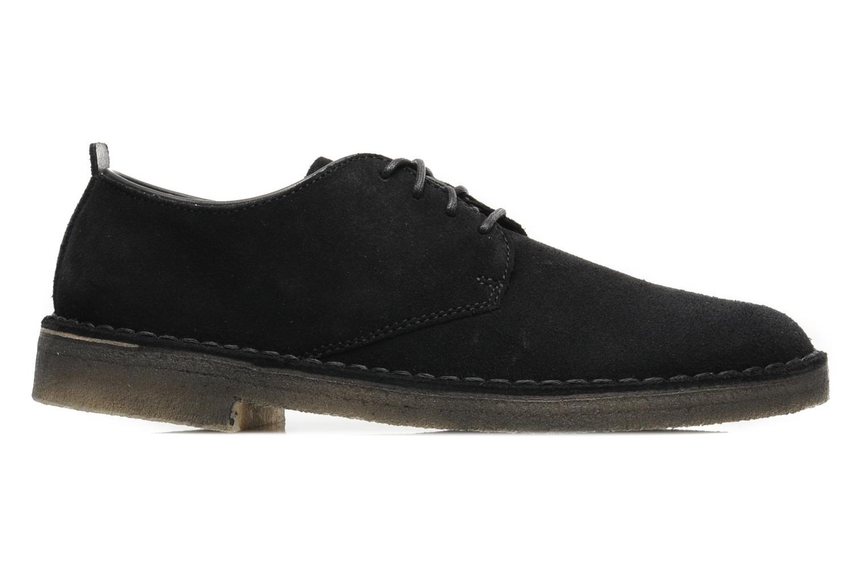 Lace-up shoes Clarks Originals Desert London Black back view