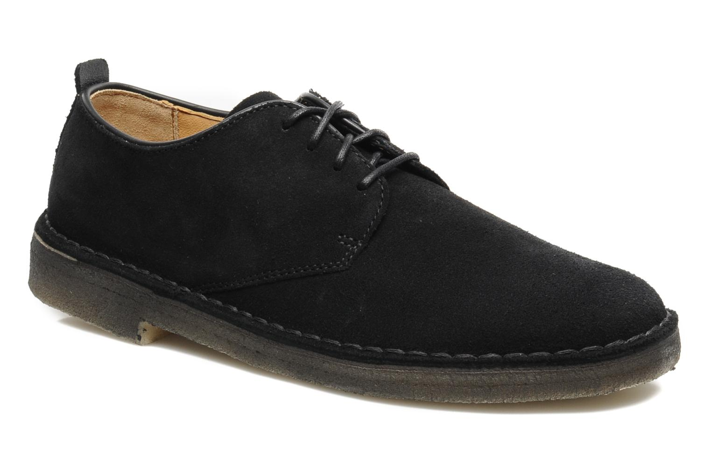 Lace-up shoes Clarks Originals Desert London Black detailed view/ Pair view