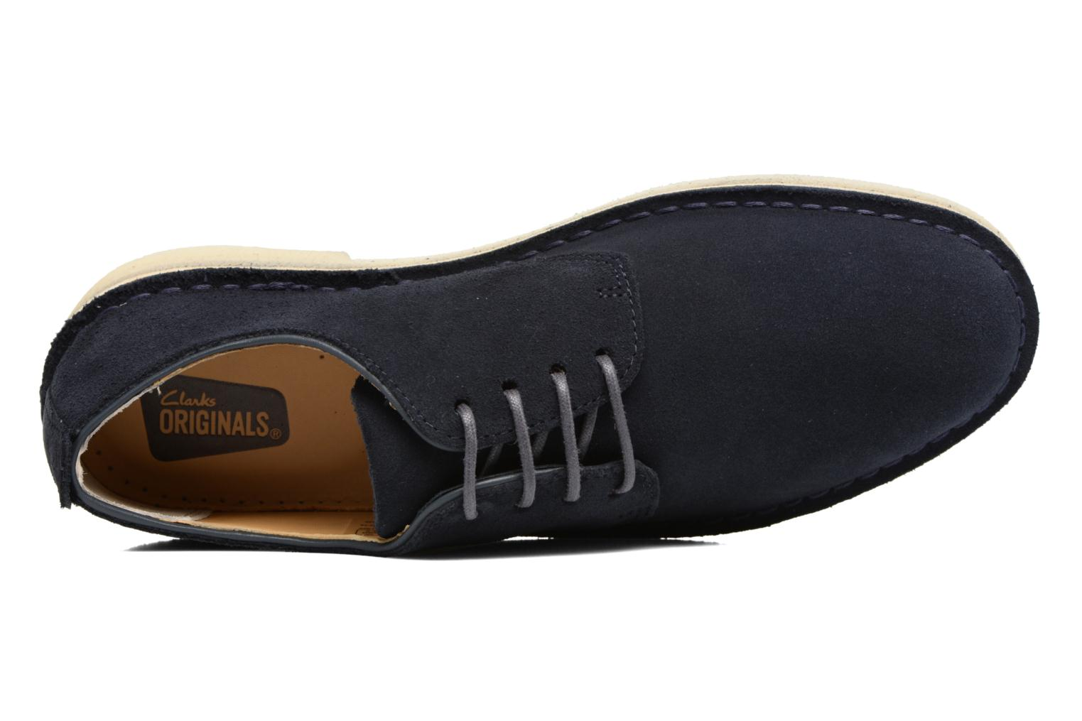 Lace-up shoes Clarks Originals Desert London Blue view from the left