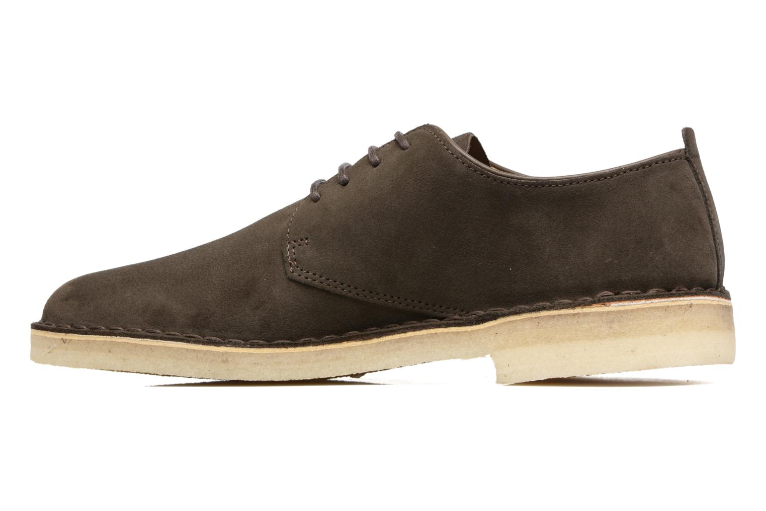 Lace-up shoes Clarks Originals Desert London Grey front view