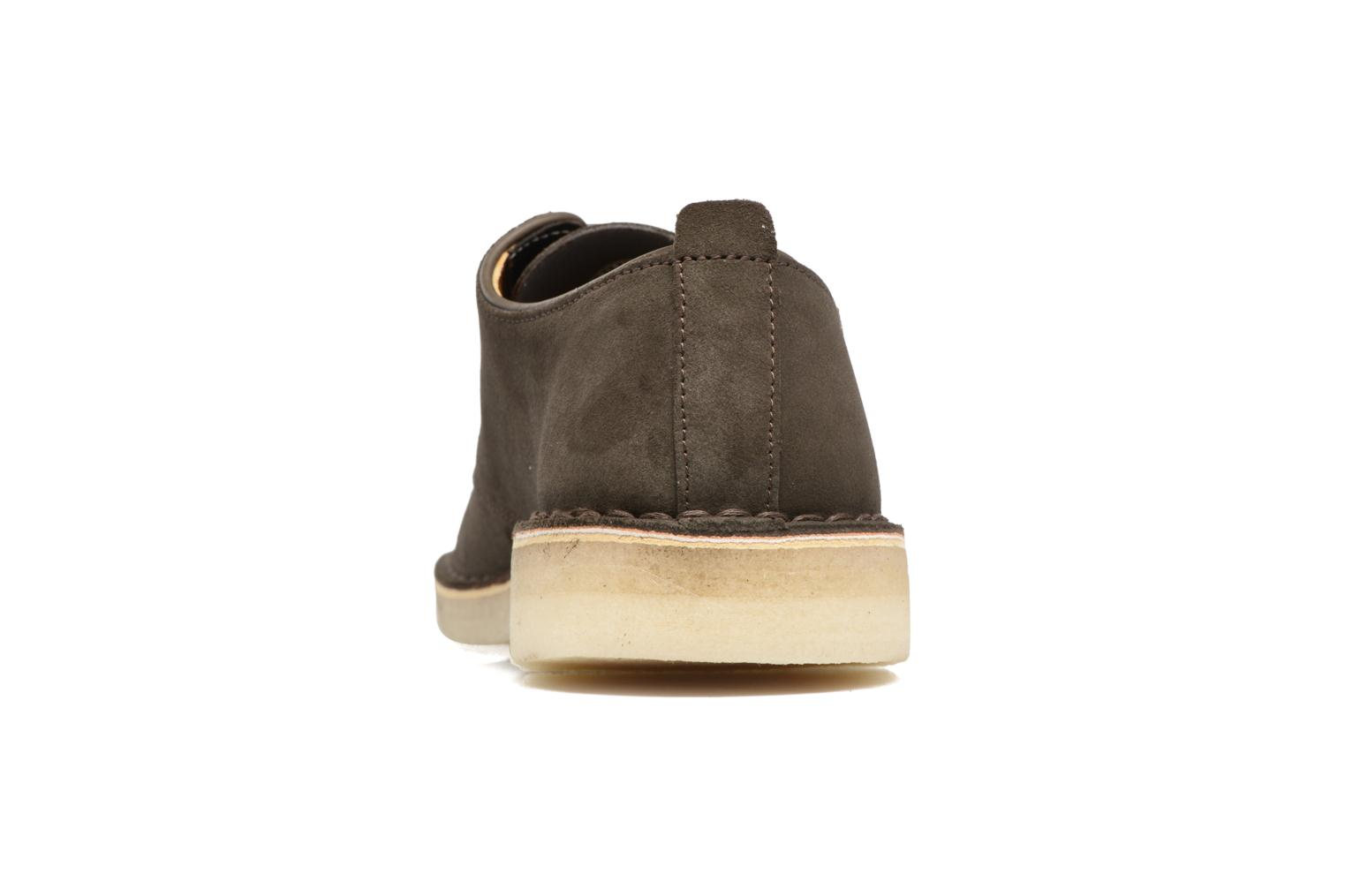 Lace-up shoes Clarks Originals Desert London Grey view from the right