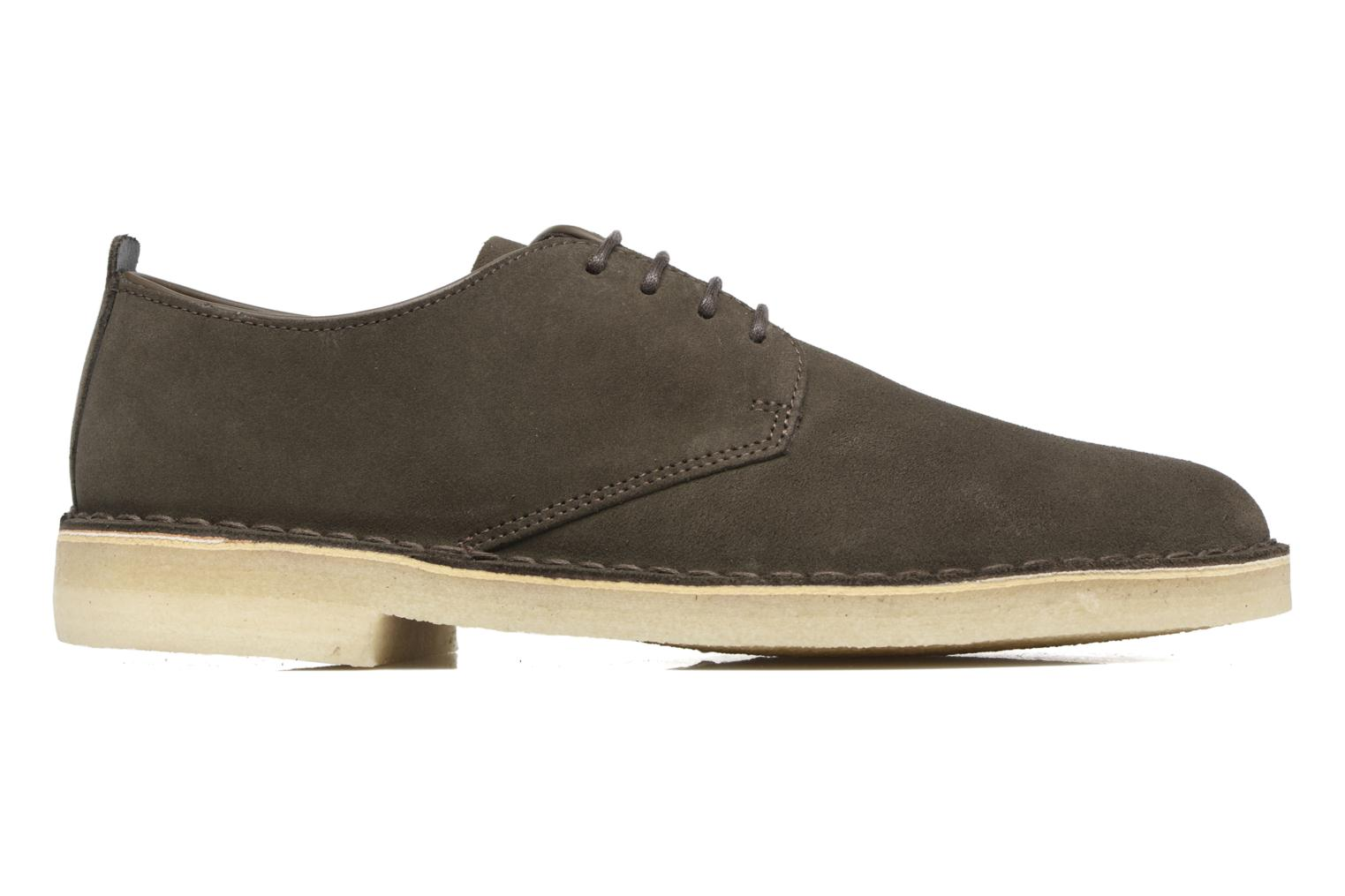 Lace-up shoes Clarks Originals Desert London Grey back view