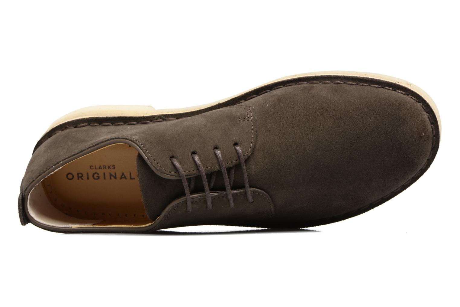 Lace-up shoes Clarks Originals Desert London Grey view from the left