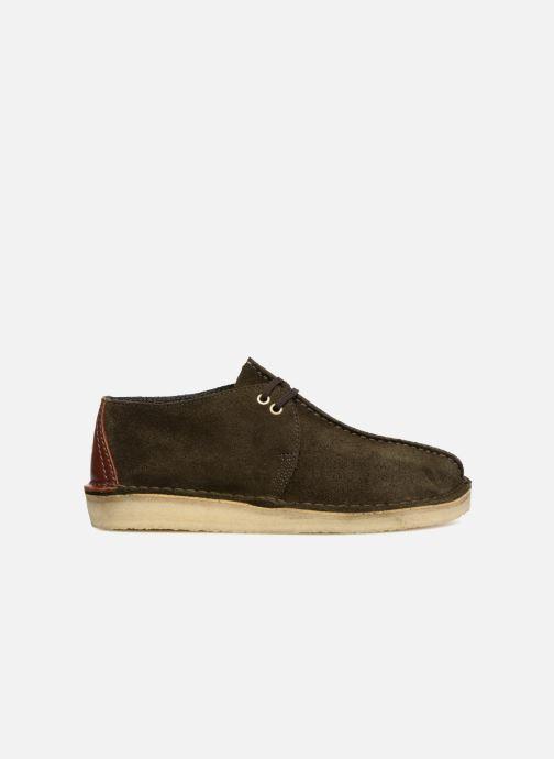 Chaussures à lacets Clarks Originals Desert Trek M Vert vue derrière