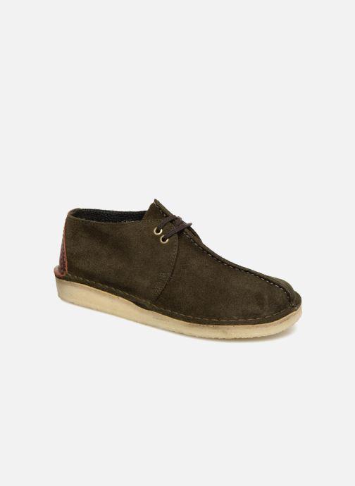 Chaussures à lacets Clarks Originals Desert Trek M Vert vue détail/paire