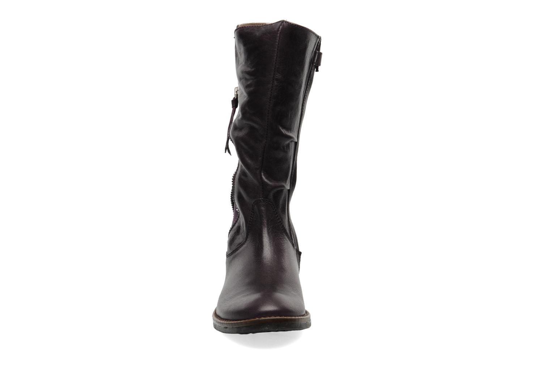 Bottes Romagnoli Maria Violet vue portées chaussures