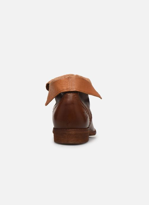 Ankle boots Mustang shoes Multa Brown view from the right