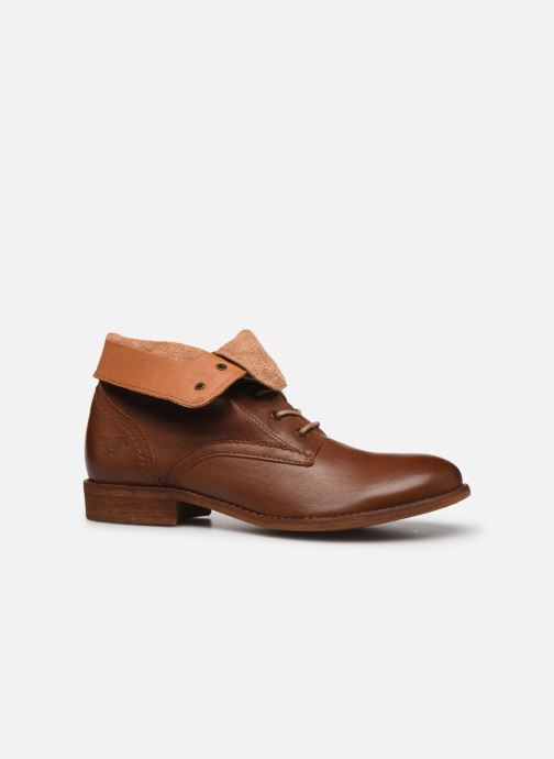 Ankle boots Mustang shoes Multa Brown back view