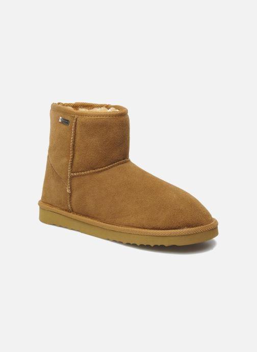Ankle boots Les Tropéziennes par M Belarbi Flocon Brown detailed view/ Pair view