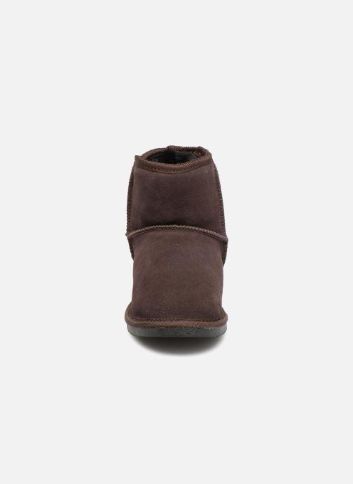 Bottines et boots Les Tropéziennes par M Belarbi Flocon Marron vue portées chaussures