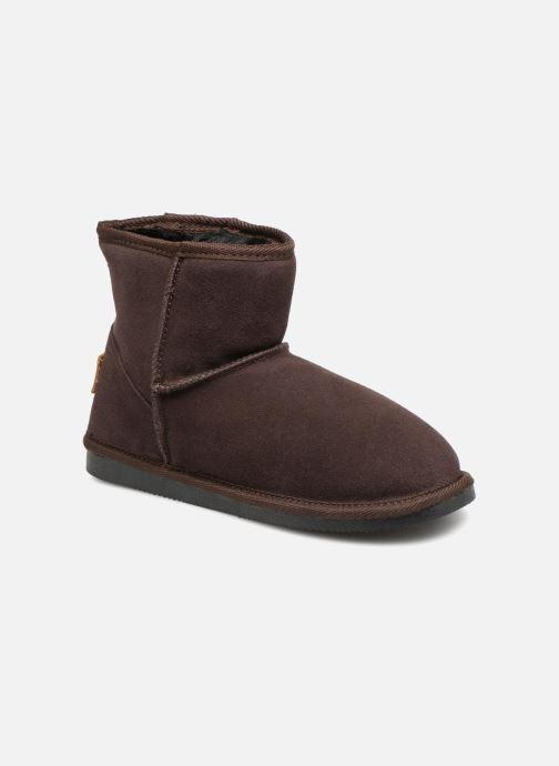 Bottines et boots Les Tropéziennes par M Belarbi Flocon Marron vue détail/paire