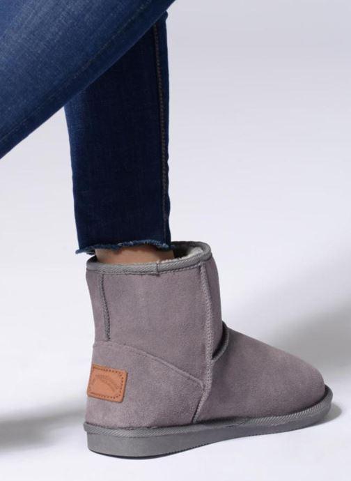 Bottines et boots Les Tropéziennes par M Belarbi Flocon Gris vue bas / vue portée sac