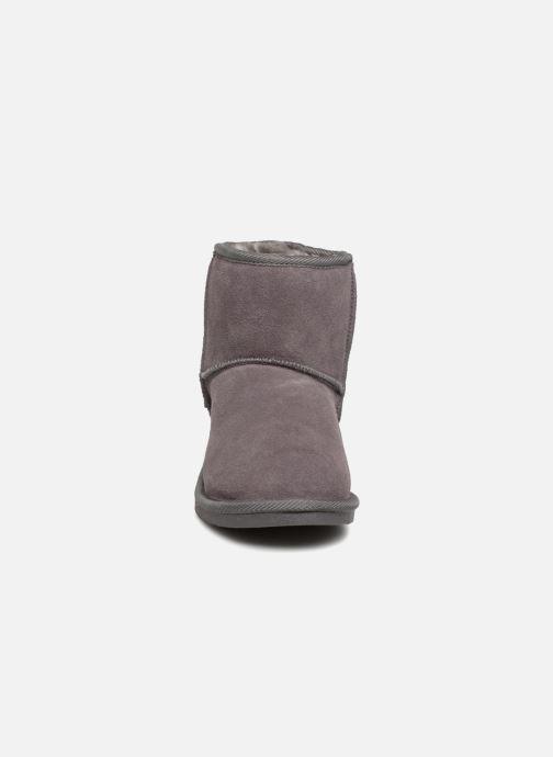 Bottines et boots Les Tropéziennes par M Belarbi Flocon Gris vue portées chaussures