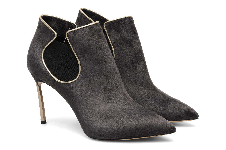 Bottines et boots Casadei Mina Gris vue 3/4