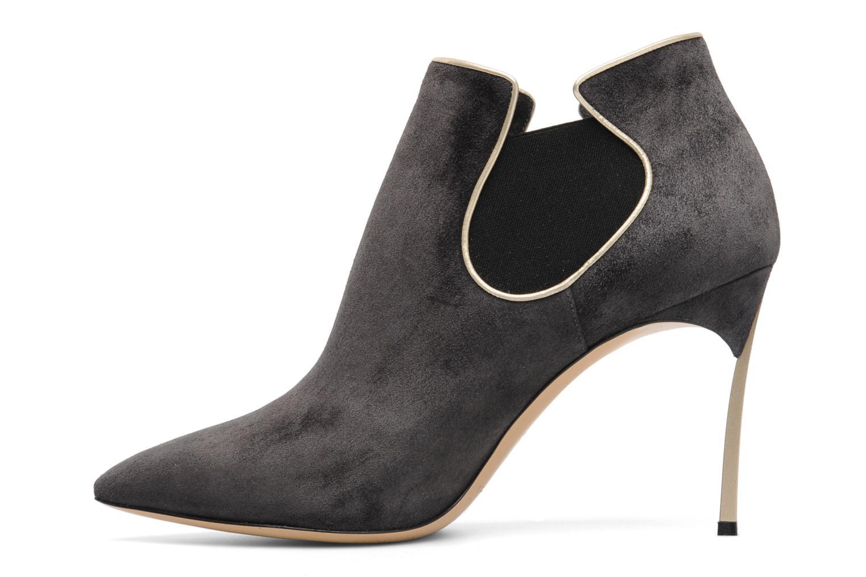 Bottines et boots Casadei Mina Gris vue face