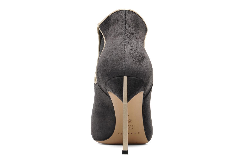 Bottines et boots Casadei Mina Gris vue droite