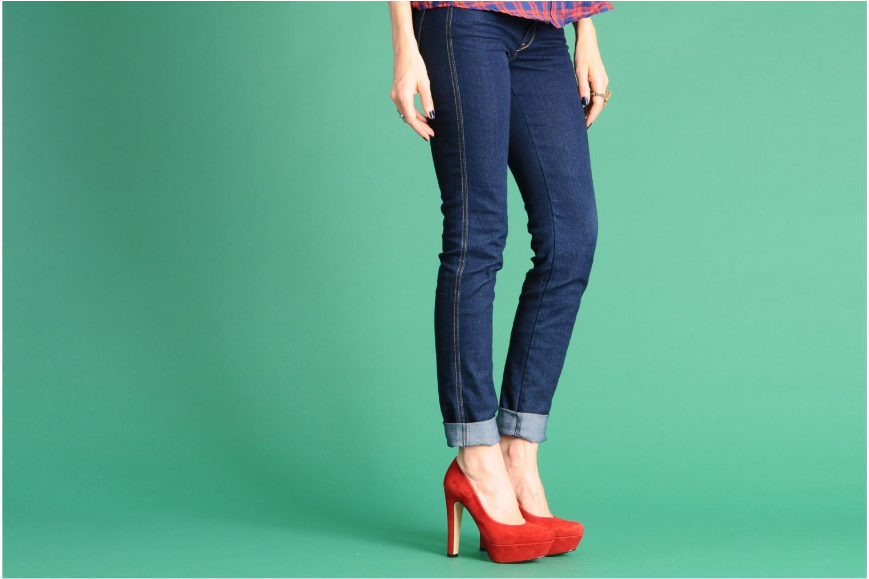 High heels Georgia Rose Vertige Blue view from underneath / model view