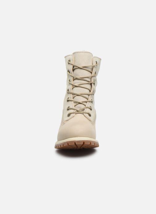 Stiefeletten & Boots Timberland Authentics Teddy Fleece WP Fold Down weiß schuhe getragen