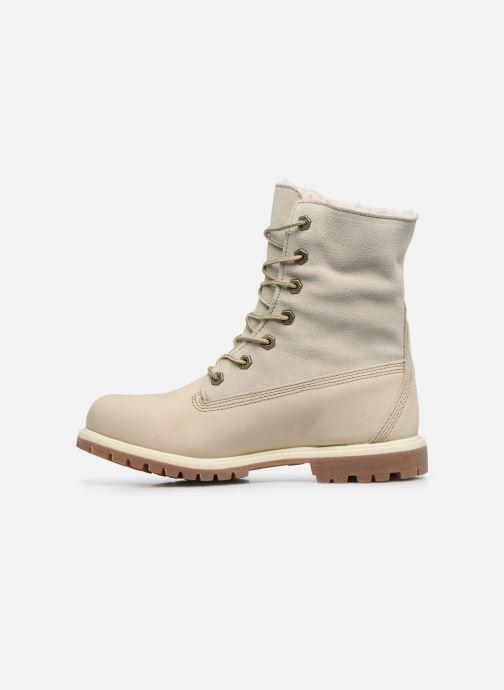 Boots en enkellaarsjes Timberland Authentics Teddy Fleece WP Fold Down Wit voorkant