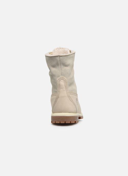 Boots en enkellaarsjes Timberland Authentics Teddy Fleece WP Fold Down Wit rechts
