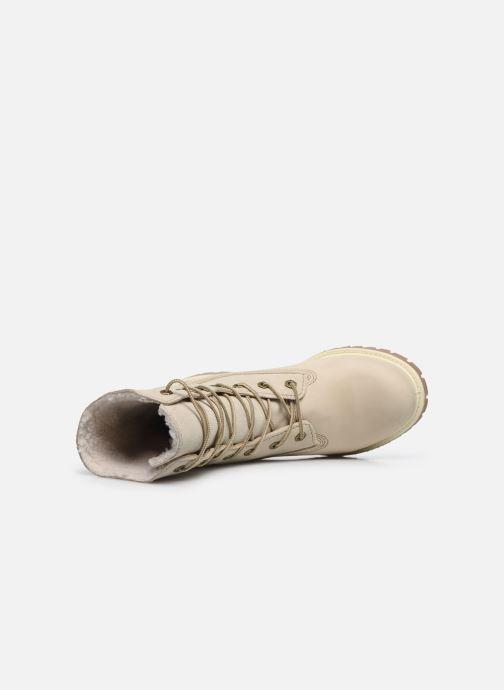 Stiefeletten & Boots Timberland Authentics Teddy Fleece WP Fold Down weiß ansicht von links