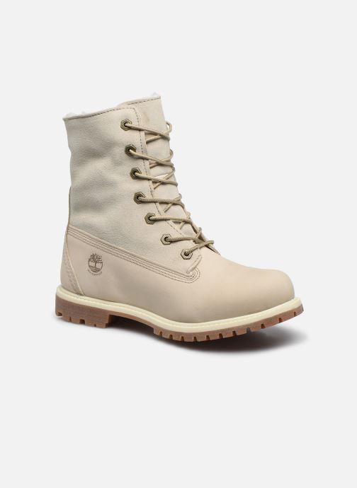 Bottines et boots Timberland Authentics Teddy Fleece WP Fold Down Blanc vue détail/paire