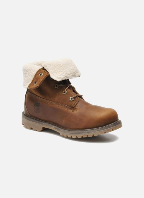 Bottines et boots Timberland Authentics Teddy Fleece WP Fold Down Marron vue 3/4