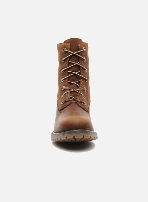Bottines et boots Timberland Authentics Teddy Fleece WP Fold Down Marron vue portées chaussures