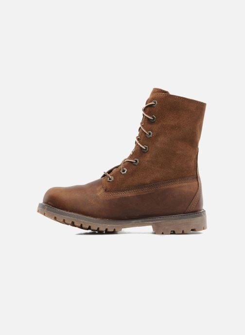 Bottines et boots Timberland Authentics Teddy Fleece WP Fold Down Marron vue face