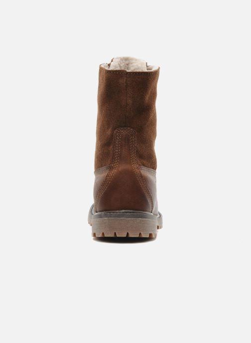Bottines et boots Timberland Authentics Teddy Fleece WP Fold Down Marron vue droite