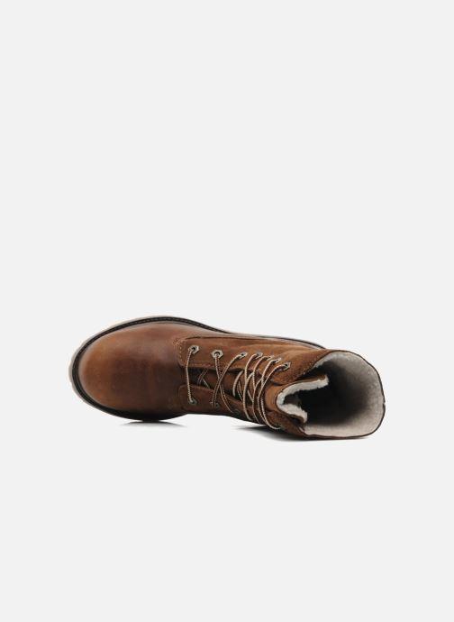 Stiefeletten & Boots Timberland Authentics Teddy Fleece WP Fold Down braun ansicht von links