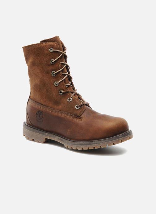 ed2f664e3e5 Ankelstøvler Timberland Authentics Teddy Fleece WP Fold Down Brun  detaljeret billede af skoene