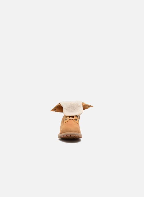 Bottines et boots Timberland Authentics Teddy Fleece WP Fold Down Marron vue portées chaussures